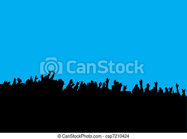 Concert crows hands - csp7210424