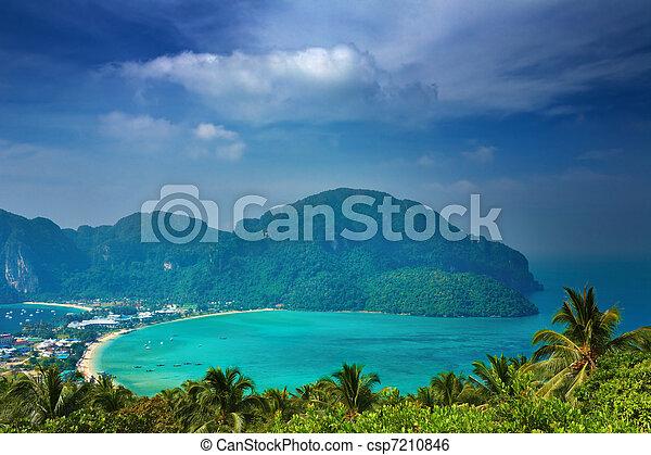 Tropical landscape, Thailand - csp7210846