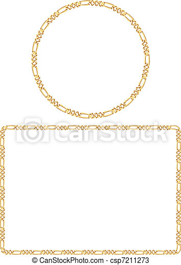 Attractive Gold Chain Frames - csp7211273