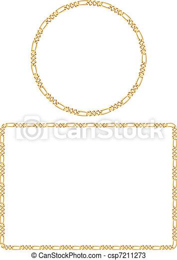Attractive Gold Chain Frames - csp7211273