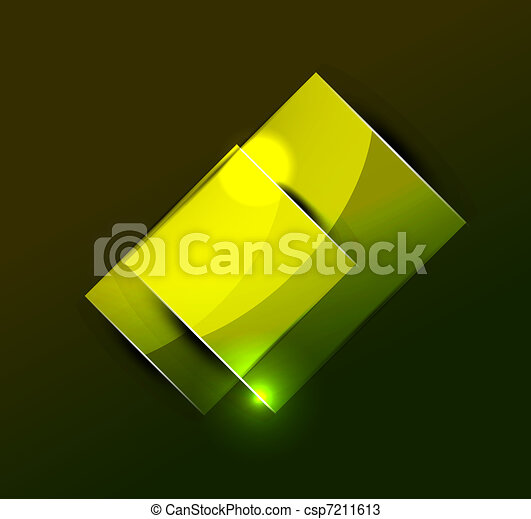 Glowing rectangular shapes on black - csp7211613