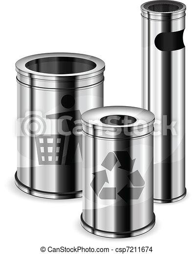 Trash bins & recycle signs  - csp7211674