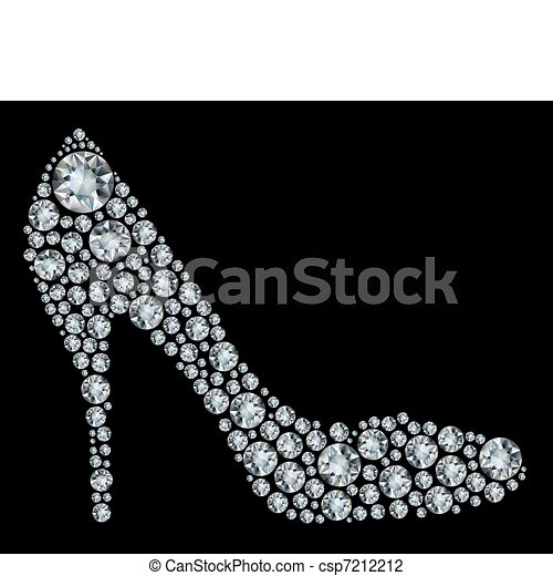Shoes shape made up a lot of diamon - csp7212212