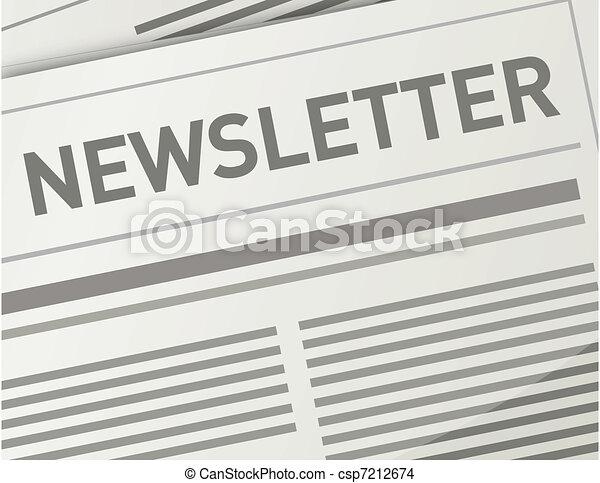 Newsletter illustration design - csp7212674