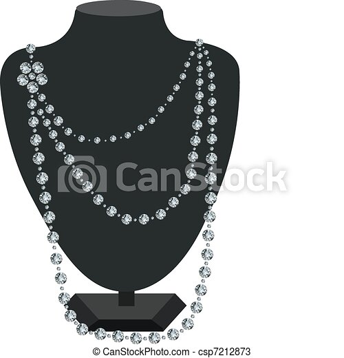 Diamond necklace on a mannequin - csp7212873