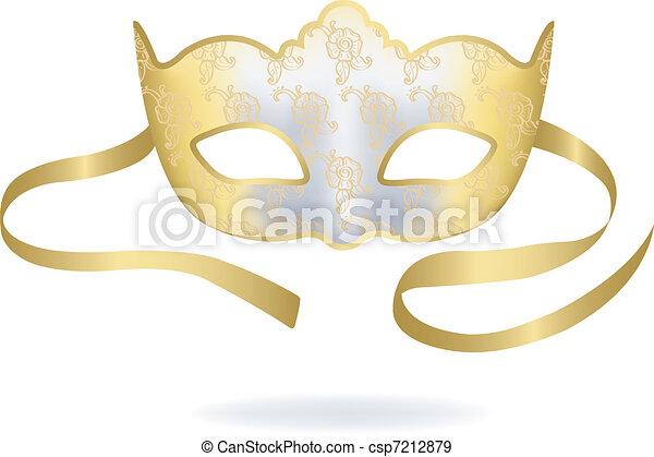 Venetian Carnival mask. - csp7212879