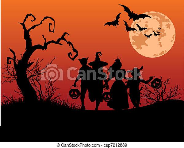 Halloween background  - csp7212889