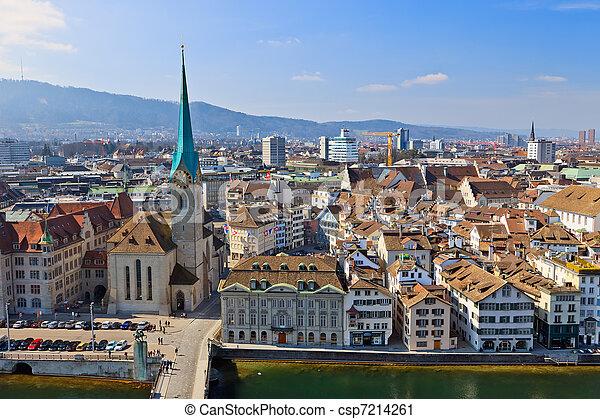 View on Zurich, Switzerland - csp7214261