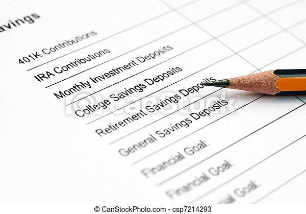 Savings plan  - csp7214293