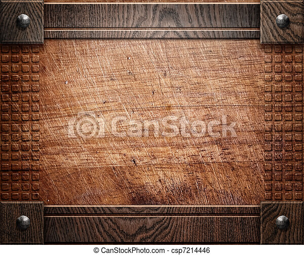 wood background texture (antique furniture) - csp7214446