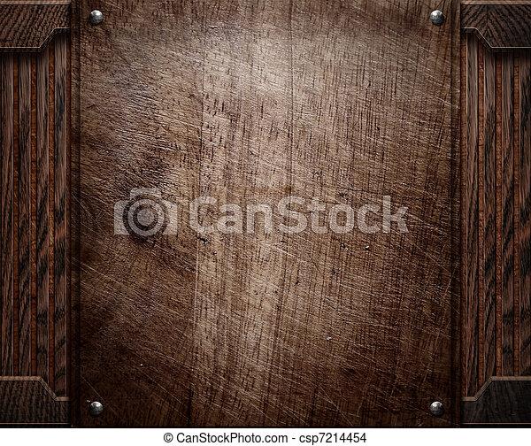wood background texture (antique furniture) - csp7214454