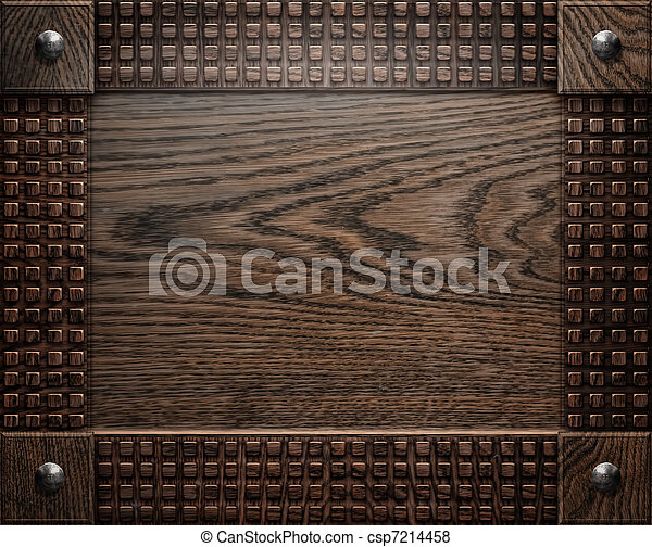 wood background texture (antique furniture) - csp7214458
