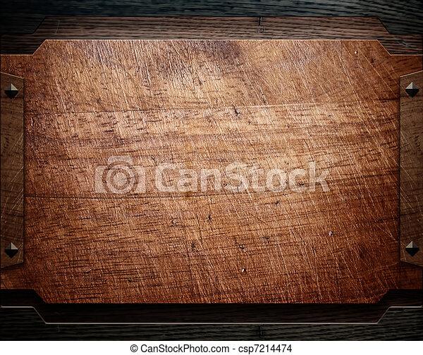 wood background texture (antique furniture) - csp7214474