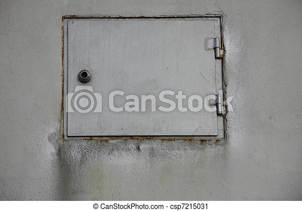 grunge industry metal door - csp7215031