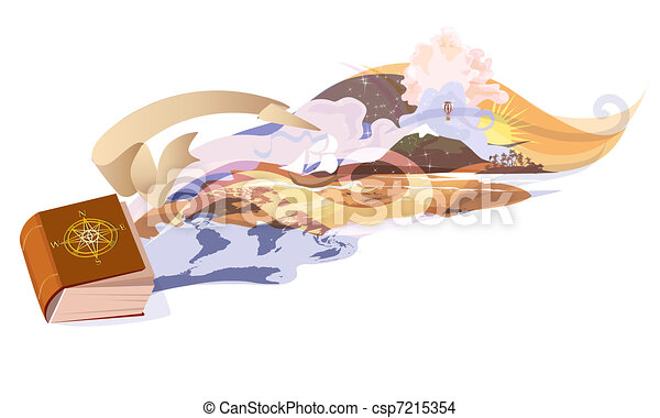Book adventures - csp7215354
