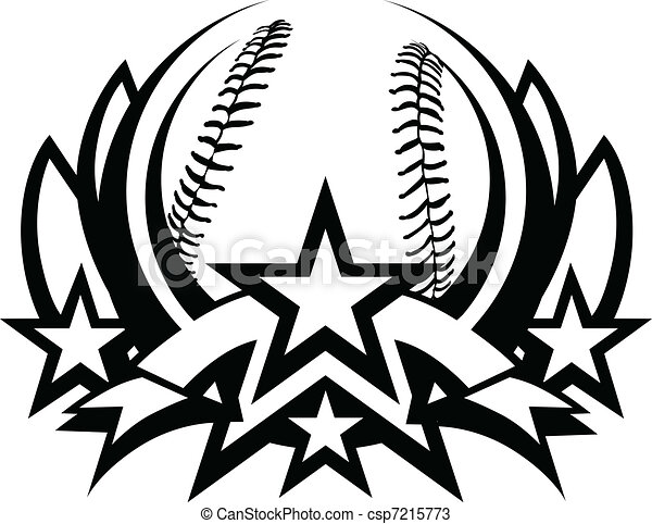 Baseball Vector Graphic Template - csp7215773