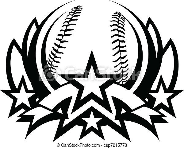 Baseball Vector Graphic Template - csp7215773