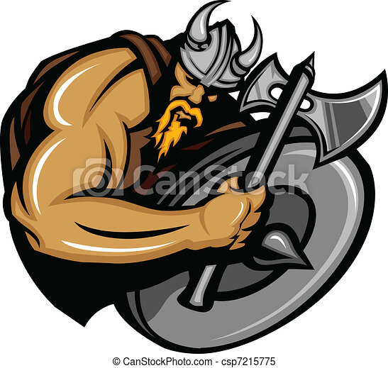 Viking Norseman Mascot Cartoon - csp7215775