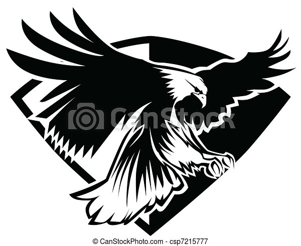Eagle Mascot Flying - csp7215777