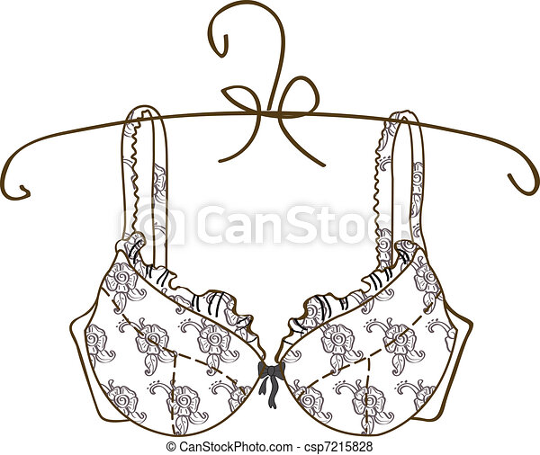 Vector bra on white background  - csp7215828