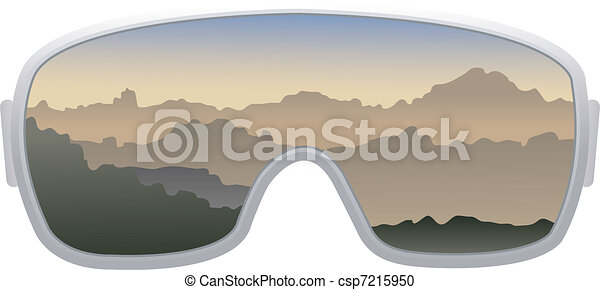 Goggles Vector Vector Ski Goggles Isolated
