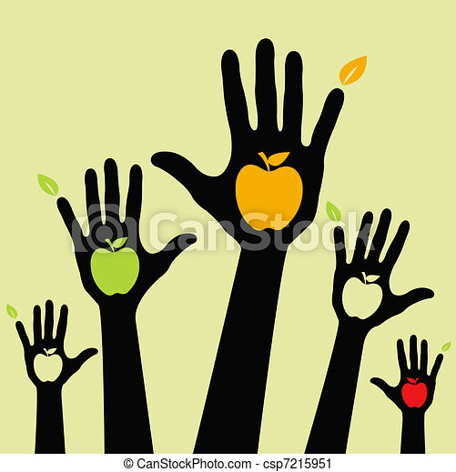 Healthy apple hands  - csp7215951