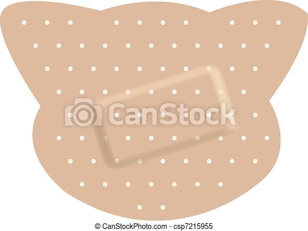 Adhesive bandages forming a cat  - csp7215955