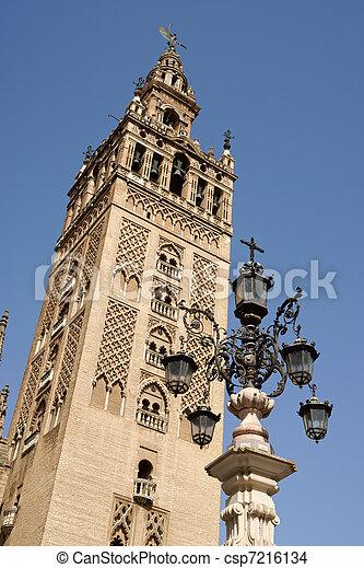 La Giralda Tower in Seville, Spain - csp7216134