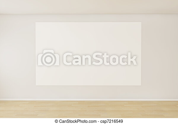 Empty room with a blank canvas - csp7216549