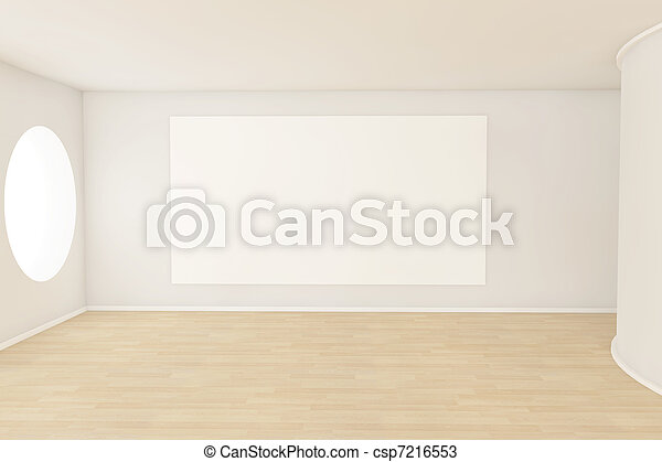 Empty room with a blank canvas  - csp7216553