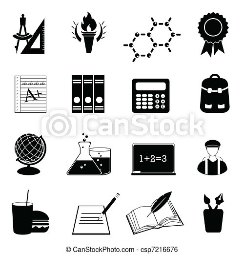 School and education icon set - csp7216676