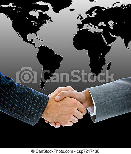 Close-up of a business people shaking hands - csp7217438