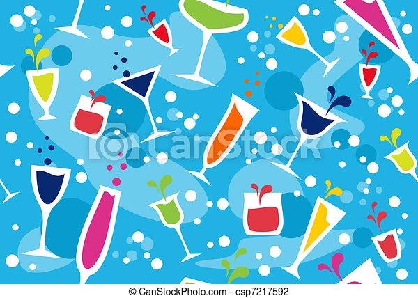Multicolour cocktail pattern - csp7217592
