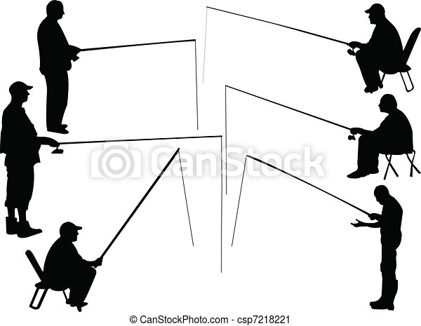 fisherman collection - vector - csp7218221