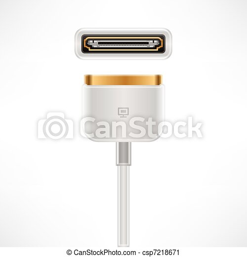 White Multimedia Dock Connector - csp7218671