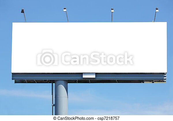 blank billboard  - csp7218757