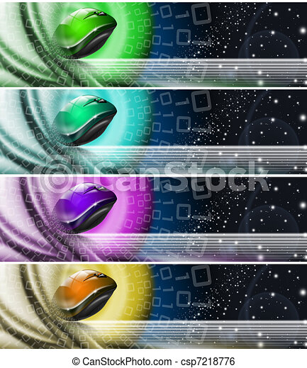 Collection of technological banners - csp7218776