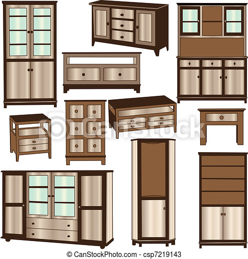 dressers collection - vector - csp7219143