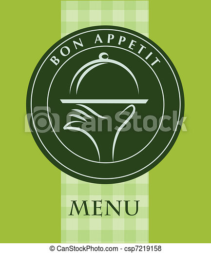 hand holding a food tray, menu template - csp7219158
