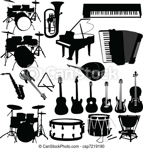musical instruments - vector - csp7219190