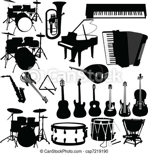 musical instruments - vector - csp7219190
