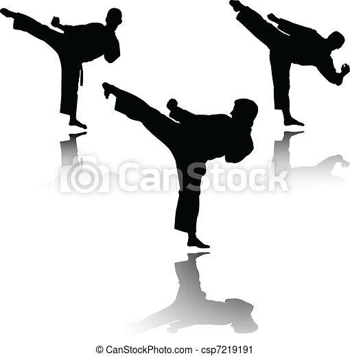 karate fighter - vector - csp7219191