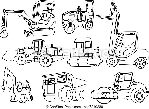 construction machines - vector - csp7219280