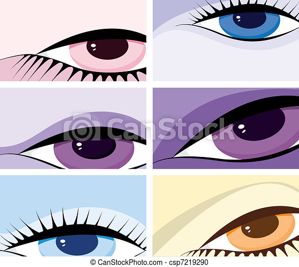 symbolic image of the eyes - csp7219290