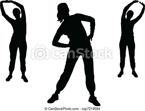 aerobics girl 2 - vector - csp7219584