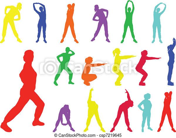 aerobics girl 6 - vector - csp7219645