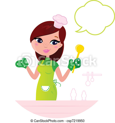 Vector Clipart Of Young Beautiful Woman With Speech Bubble