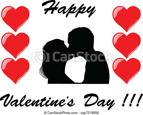 Valentine's Day - vector - csp7219956