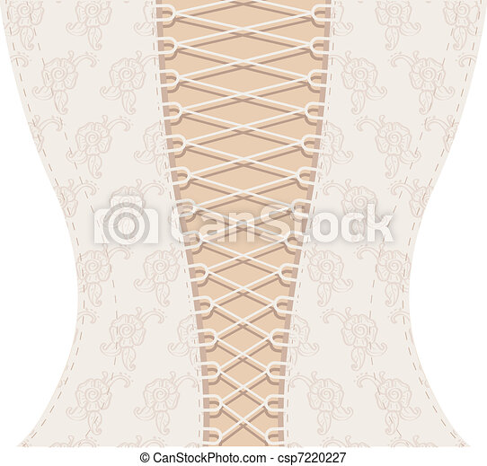 Background white corset with ribbon - csp7220227
