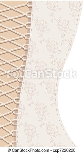 Background white corset with ribbon - csp7220228
